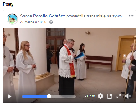 facebook droga krzyżowa